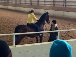 Melissa Moore instructing at the first Midwest AOT Clinic.